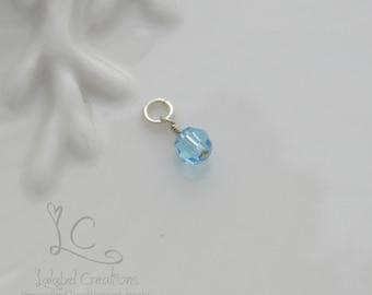 Add a Charm 6mm Swarovski Crystal Birthstone Dangle, Add on Birthstone Crystal