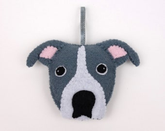 Felt Dog Ornament - Staffordshire Bull Terrier