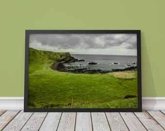 Irish Meadows, Giants Causeway - Poster || Photography, Photo, Fine Art, Mural, Nature, Landscape, Ireland, Dublin, Travel, Coast, Water