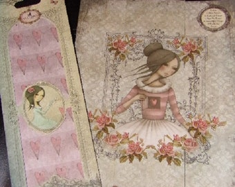 "Mirabelle 2 "" THE SECRET "" SANTOROs of London A4 Card Paper Set - 36 Pages + Free Decoupage papers ! RARE"