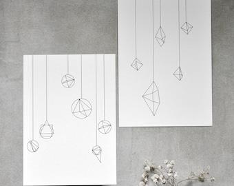 10er-Set POSTKARTEN in love with shapes
