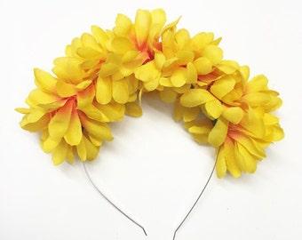 Bright Orange Flower Crown