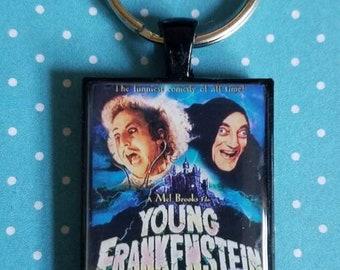 Young Frankenstein Mel Brooks Film Movie Poster Resin Black Keychain Gene Wilder