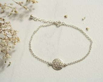 Filigree Bracelet Flower of life, flower of life, 925 sterling silver, minimalist jewelry