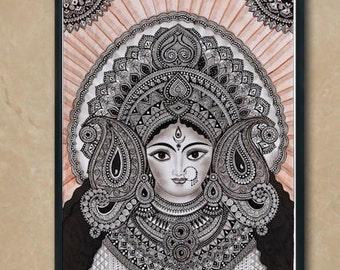 Hindu Goddess Durga , Home Decor art print