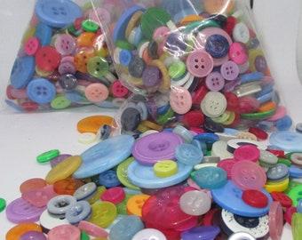 Bright Rainbow Random Sewing Button Mix, Crafting Buttons, Sewing Button Mix, Bulk Button Lot, Assorted Sewing Buttons, Craft Buttons