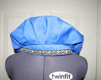Medieval Renaissance Royal Blue Cotton Muffin Cap Hat