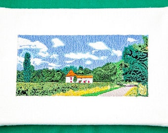 French Farmhouse in Tranquil surroundings Embroidered