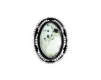 Large White Buffalo Ring - Stone 3