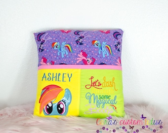 My little Pony- Rainbow Dash -Gift for her- Reading pillow- Decoration- Room Decor - Bed Pillow- Pillow Cover- Pocket Pillow- Pillow Sleeve
