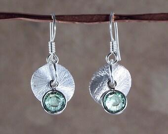 Bryolet Earrings - Peridot & Emerald