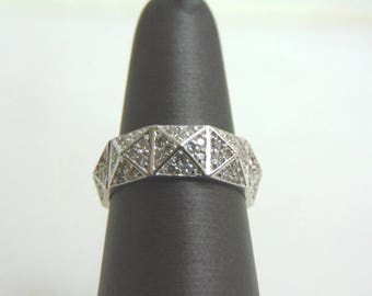 Unique Women's 14K White Gold Diamond Eternity Ring 4.5g E1253
