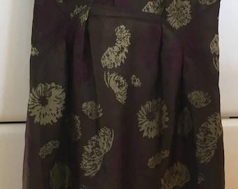 Magaschoni Collection Silk Brocade Dress