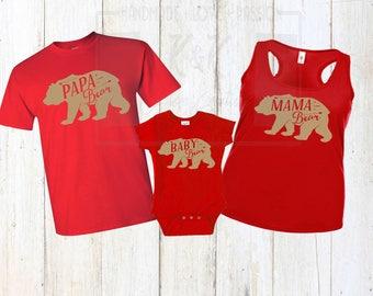 Family Bear Shirts, Papa bear, Mama bear, Baby bear, Papa bear shirt, mama bear shirt, baby bear shirt