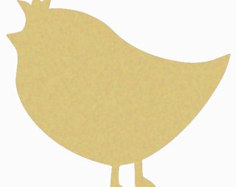 CHICK #1 Unfinished Wooden Craft Shape, Do-It-Yourself