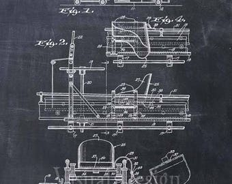 fire truck patent etsy rh etsy com Fire Engine Drawing Fire Alarm Pull Station Wiring Diagram