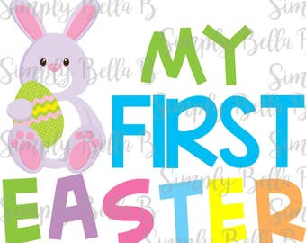 My First Easter Spring INSTANT DOWNLOAD Printable Digital Iron-On Transfer Design - DIY