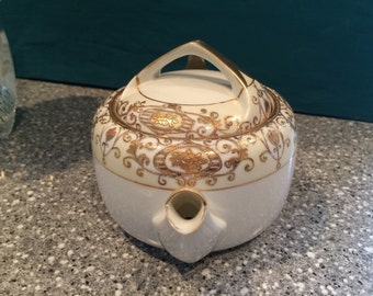 Gilded Fine China Tea Pot