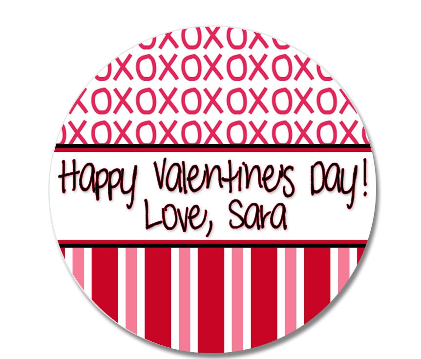 Stickers Valentine Stickers Treat Bag Labels Personalized