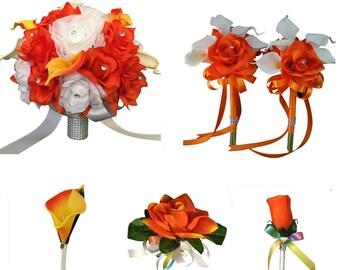 13pc set-Wedding package-orange white rainbow wedding theme