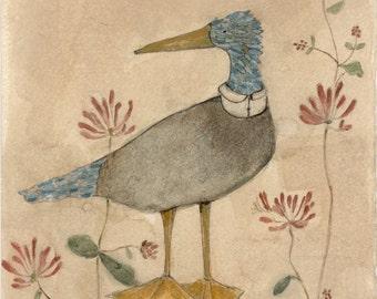 Dressed Up Blue Bird