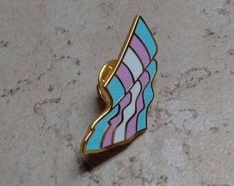 Pride Flag Enamel Pin, Trans, LGBT, Lapel Pin