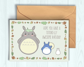 Totoro Birthday Card