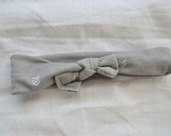 CLEARANCE Gray Baby Girl Headband - Knit Headbands - Infant Headbands - Newborn Headbands - Headbands for Babies - Knotted Headband