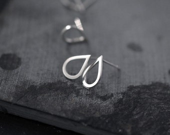 Baby droplette silver or vermeil studs earrings