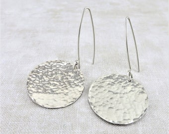 Silver Earrings ~ Disc Earrings ~ Dangle Earrings ~ Bridesmaid Gift ~ Sterling Earrings ~ Minimalist Earrings ~ Gifts For Her ~ Zen Earrings