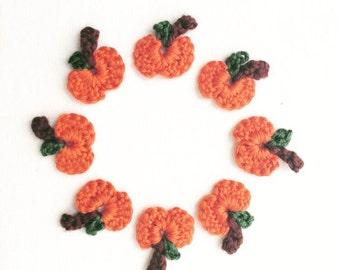Crochet Mini Pumpkin Appliques | Tiny Crochet Pumpkin Appliques