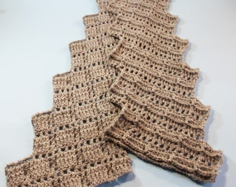 Crocheted Lace Scarf PDF Pattern Crocheted zigzag lace scarf pattern  PDF scarf pattern,crochet pattern Crocheting