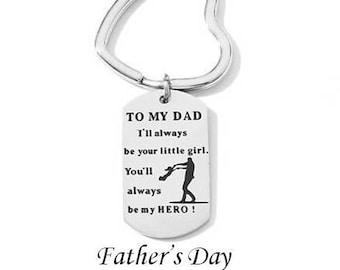 Father's Day Dog Tag KeyChain