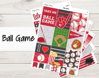 Your Team Colors! Ball Game Weekly Kit - Planner Stickers, Baseball Kit, Baseball Weekly, Baseball Stickers, Custom Stickers