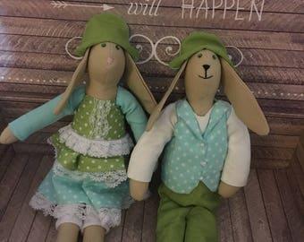 Handmade Tilda Bunny Rabbit Family
