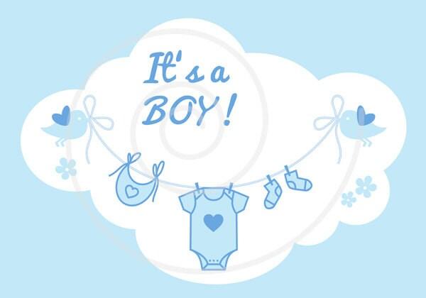 new baby clip art it s a girl it s a boy blue and rh etsy com it's a boy banner clipart congratulations it's a boy clipart