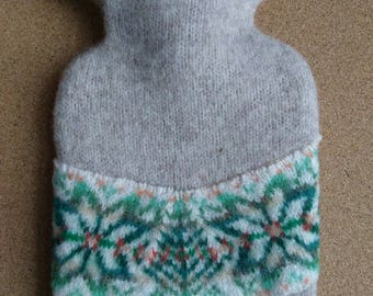 Nordic hot water bottle cover, fair isle, hygge