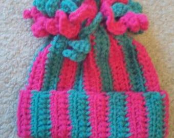 Child Beanie ; Crochet Toque ; Spirals Toque ; Kid's Beanie