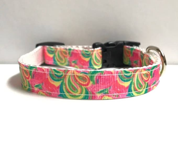 """5/8"""" Paisley lilly inspired collar"""