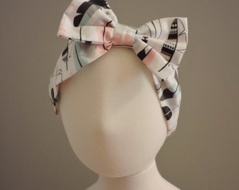 Baby Bow Headband - Feathers