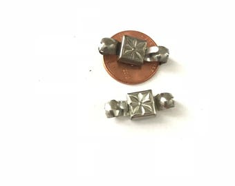 Vintage Art Deco Silver Plated Ball Chain Clasp
