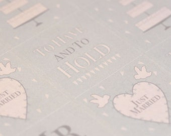 East of India Sheet of 35 Wedding Stickers - Labels