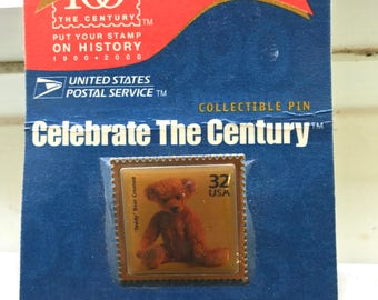 USPS .32 Teddy Bear Collectible Pin-New