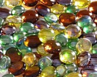 100 x Gardeners Delight of Glass Pebbles, perfect for crafts or to add a splash of colour around the home