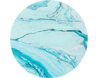 Aqua Marble 2X STICKERS ONLY for your Phone Pop Grip