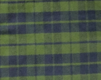 Cotton Flannel Fabric, Plaid Flannel - By the Yard - Olive Green / black Plaid, tartan plaid, scarf fabric, shirt fabric, woven flannel