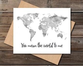 einzigartige Valentinstag Karte digitalen download Pdf Jpg