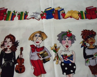 Teachers Fabric Loralie Design Very Rare & Hard To Find New By The Yard