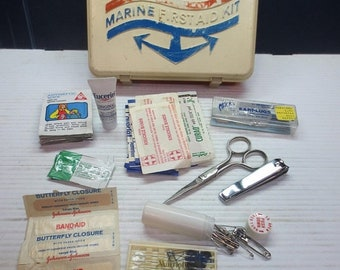 Whole Shop on Sale Vintage Johnson & Johnson Marine First Aid Kit