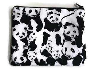 Panda Zipper Notions bag